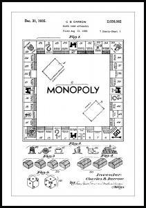 Patenttegning - Monopol I - Poster Plakat