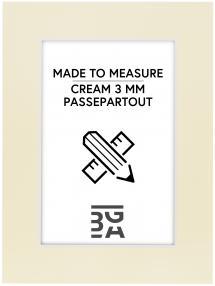 Passepartout Creme 3 mm (Hvit kjerne) - Målbestilt