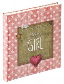 Little Baby Girl Rosa - 28x30,5 cm (50 Hvite Sider / 25 Ark)