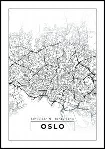 Kart - Oslo - Hvit