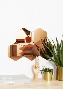 KAILA Speil Hexagon Rose Gold 18x21 cm - 5-pk