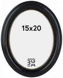 Eiri Mozart Oval Svart 15x20 cm