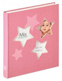 Estrella Babyalbum Rosa - 28x30,5 cm (50 Hvite sider / 25 ark)