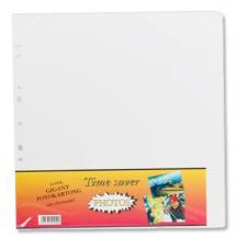 Albumblad Timesaver Gigant - 10 Hvite ark