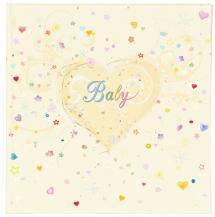 Premium Babyalbum - 25x25 cm (50 hvite sider / 25 blad)