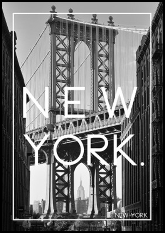 New York Black & White 50x70 cm