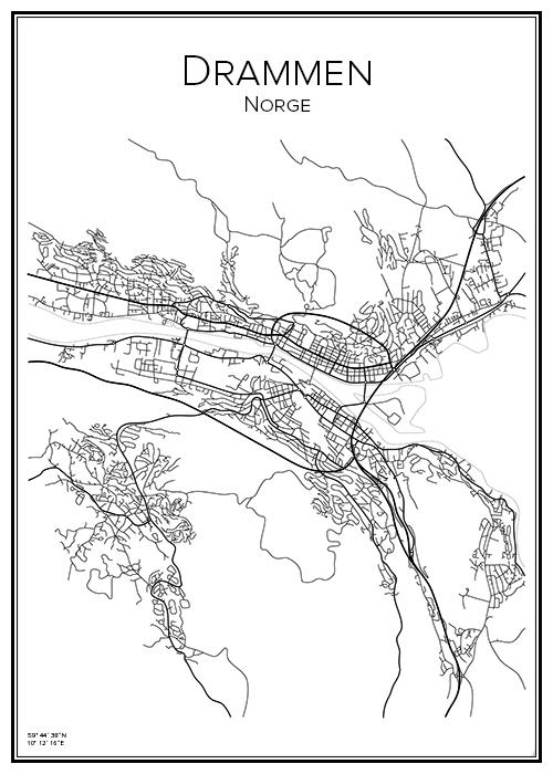 Karta Norge Drammen.Kart Drammen Bga Fotobutikk