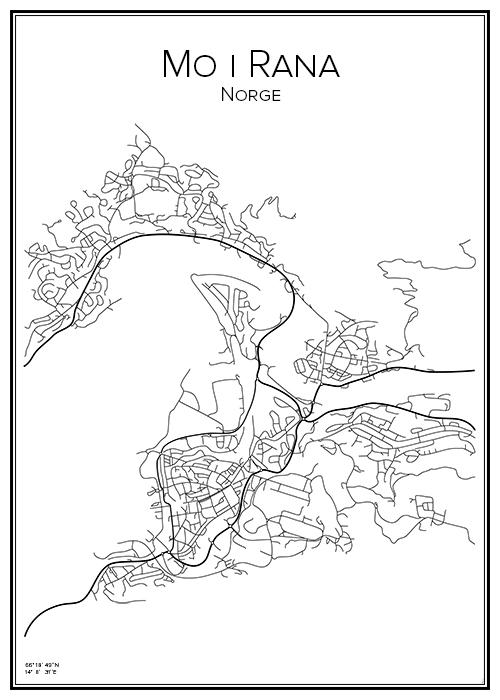 kart over mo i rana Kart Mo i Rana   BGA Fotobutikk