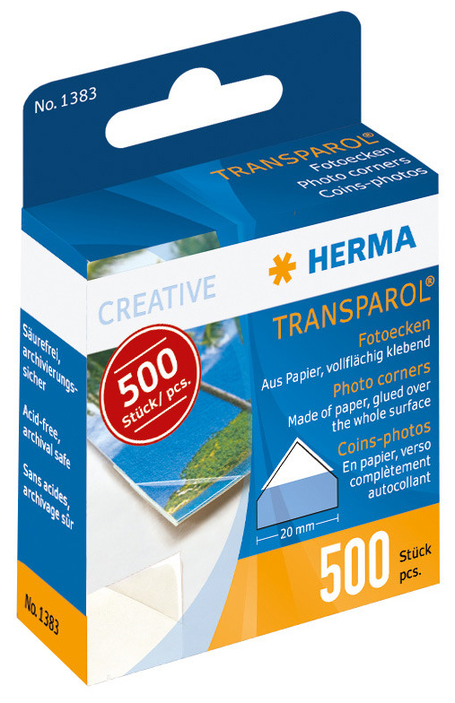 Herma Photo Corners - 500 stk.