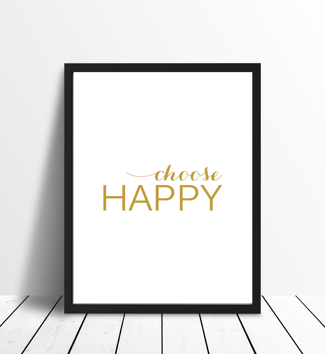 Choose happy - Gull